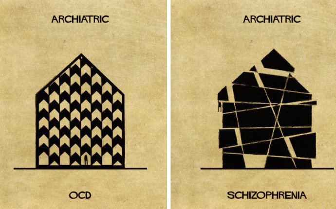 15 Illustrations That Explain Mental Illnesses As Houses | So Bad