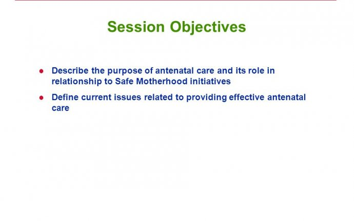 Antenatal Care (ANC): Overview - ppt download