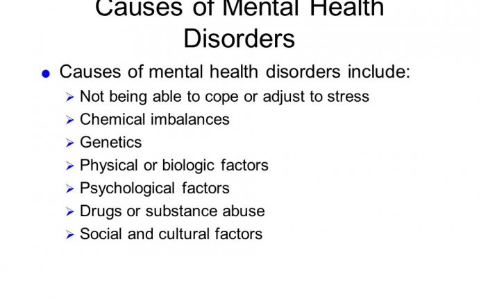 Mental Health Disorders - ppt download