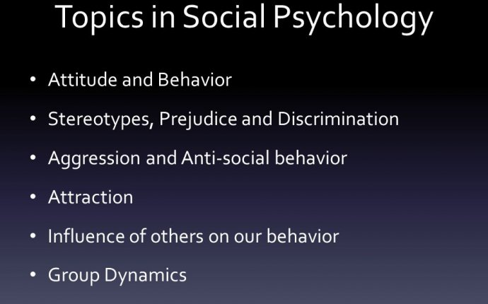 Topics Psychology