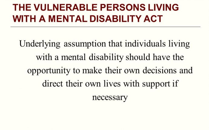 What does mental disability Mean?