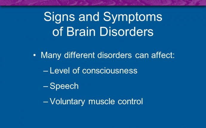 Symptoms of Brain Disorders