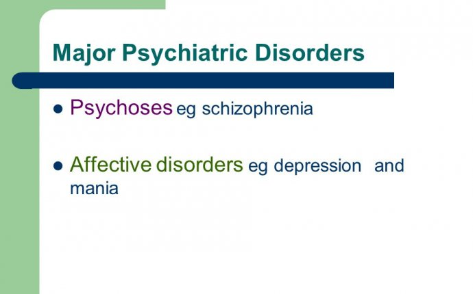 Major Psychiatric Disorders