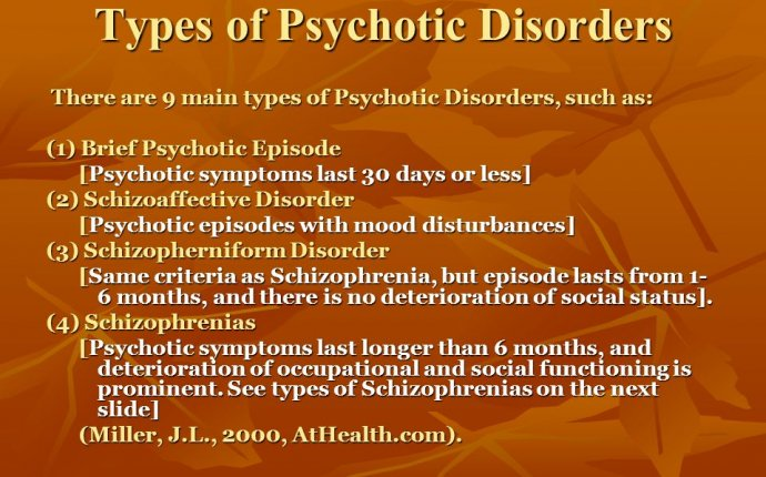 Types of psychotic Disorders