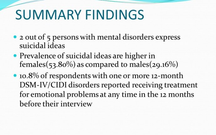 Persons With mental disorders
